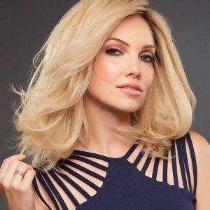 Carrie Petite | Brunette Black Blonde Mid-Length Women's Red Straight Wigs - wigglytuff.net