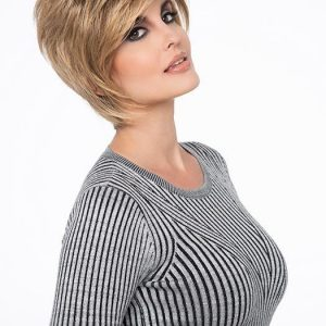 Chantel | Black Blonde Monofilament Red Gray Short Lace Front Synthetic Wigs - wigglytuff.net