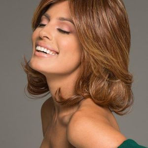 Embrace | Black Mid-Length Straight Rooted Blonde Women's Layered Synthetic Wigs - wigglytuff.net