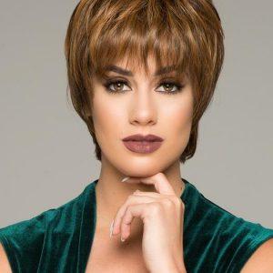 Enchant | Black Synthetic Brunette Rooted Gray Women's Wigs - wigglytuff.net