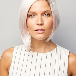 Faith | Brunette Lace Front Synthetic Blonde Rooted Women's Straight Wigs - wigglytuff.net