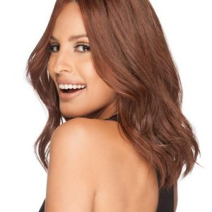 Gwyneth | Black Mid-Length Human Hair Blonde Monofilament Straight Wigs - wigglytuff.net