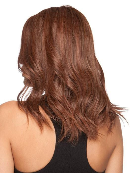 Gwyneth | Black Mid-Length Human Hair Blonde Monofilament Straight Wigs - wigglytuff.net
