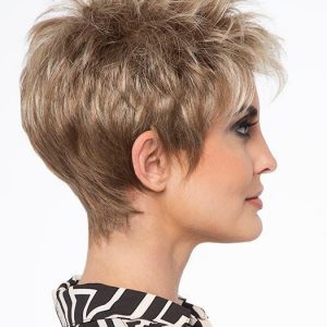 Ivy | Black Blonde Monofilament Red Gray Short Lace Front Synthetic Wigs - wigglytuff.net