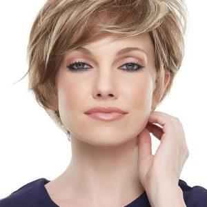 Mariska Petite | Black Synthetic Short Straight Lace Front Blonde Red Women's Wigs - wigglytuff.net