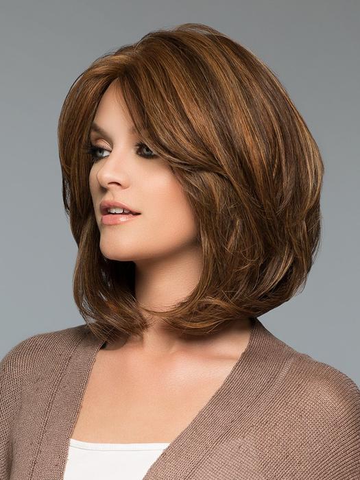 Medi-Tach | Black Straight Women's Brunette Human Hair Wigs - wigglytuff.net