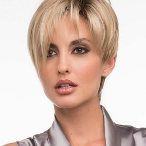 Miley | Black Synthetic Rooted Brunette Straight Women's Wigs - wigglytuff.net