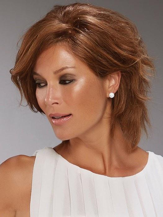 Sophia   Black Straight Brunette Lace Front Women's Wigs - wigglytuff.net