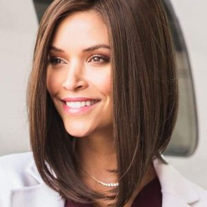 Taylor | Brunette Lace Front Colored Short Gray Bob Straight Wigs - wigglytuff.net