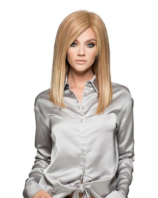 Adelle | Red Monofilament Blonde Mid-Length Straight Brunette Wigs - wigglytuff.net