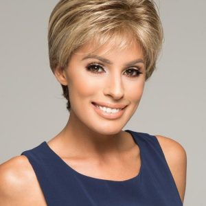 Beauty | Brunette Short Wavy Rooted Synthetic Women's Wigs - wigglytuff.net