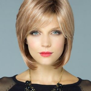 Cameron | Brunette Mid-Length Blonde Straight Women's Synthetic Black Rooted Wigs - wigglytuff.net