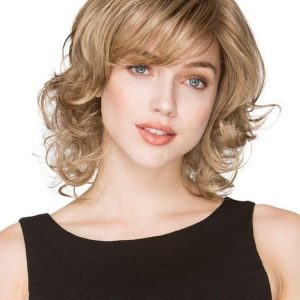 Cat | Brunette Rooted Blonde Synthetic Curly Wigs - wigglytuff.net