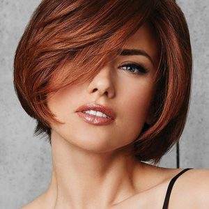 Classic Fling | Red Synthetic Short Brunette Gray Black Straight Bob Wigs - wigglytuff.net