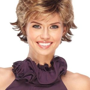 Jazz Petite | Red Women's Synthetic Black Gray Short Wigs - wigglytuff.net