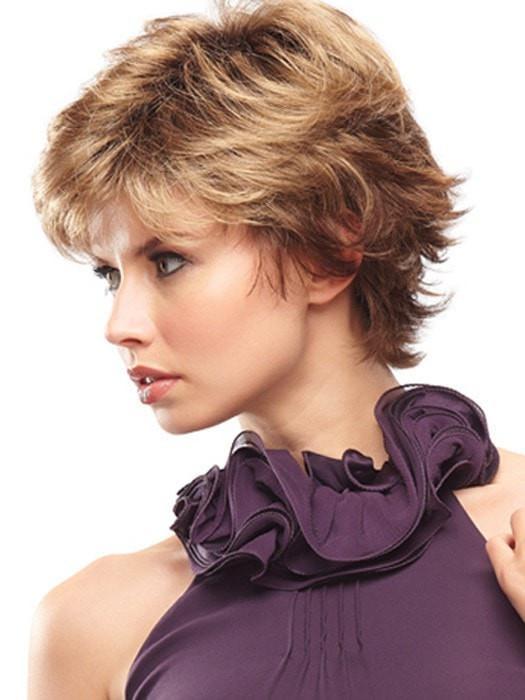 Jazz Petite | Red Women's Synthetic Black Gray Short Wigs - wigglytuff.net