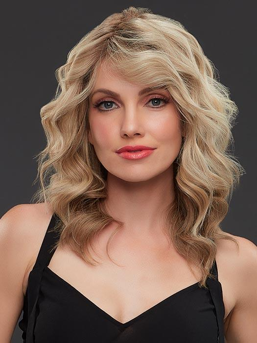 Jennifer Exclusive Colors   Brunette Rooted Long Blonde Lace Front Monofilament Straight Layered Wigs - wigglytuff.net