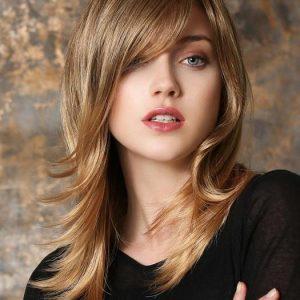 Marusha Mono | Brunette Women's Blonde Synthetic Monofilament Long Black Wigs - wigglytuff.net