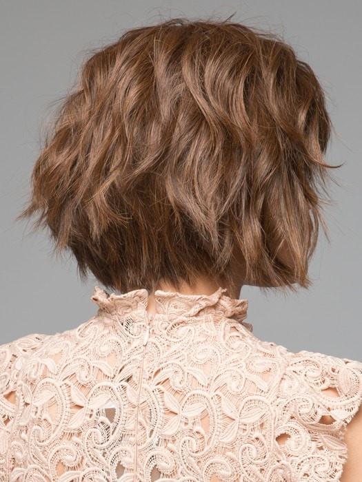 Mood   Brunette Blonde Human Hair Synthetic Monofilament Women's Wigs - wigglytuff.net