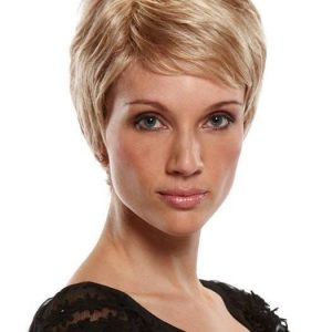Simplicity Petite | Red Women's Synthetic Blonde Short Wigs - wigglytuff.net