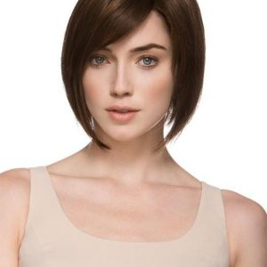 Tempo 100 Deluxe | Brunette Women's Blonde Gray Monofilament Straight Red Wigs - wigglytuff.net