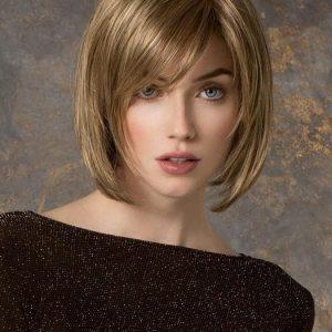 Tempo 100 Deluxe Large | Brunette Women's Blonde Gray Monofilament Straight Wigs - wigglytuff.net