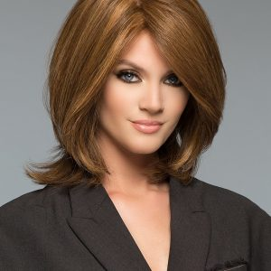 Tiffany | Red Layered Blonde Women's Short Brunette Wigs - wigglytuff.net