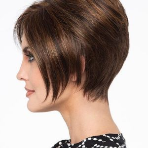 Tinsley | Brunette Black Blonde Rooted Women's New Arrivals Short Lace Front Wigs - wigglytuff.net