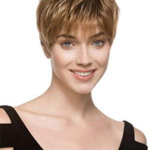Bo Mono | Rooted Blonde Monofilament Pixie Short Red Brunette Women's Wigs - wigglytuff.net