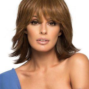 Grace | Rooted Straight Brunette Blonde Women's Red Monofilament Wigs - wigglytuff.net