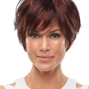 Mariska | Rooted Brunette Blonde Straight Lace Front Women's Layered Synthetic Wigs - wigglytuff.net