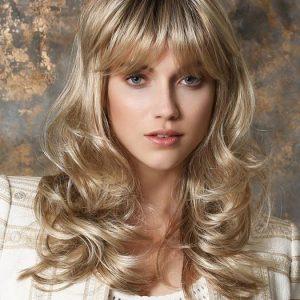 Pretty | Rooted Synthetic Wavy Brunette Wigs - wigglytuff.net