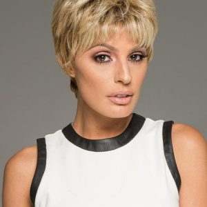 Textured Cut | Red Women's Pixie Brunette Gray Short Wigs - wigglytuff.net