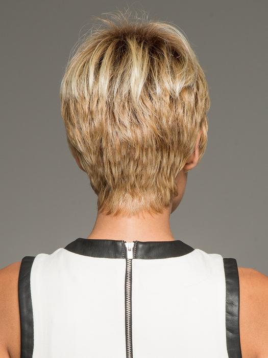 Textured Cut | Red Women's Pixie Brunette Gray Short Wigs - wigglytuff.net