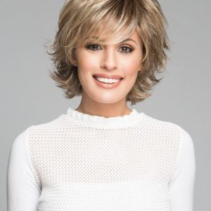 Trend Setter | Rooted Short Women's Layered Black Mid-Length Blonde Wigs - wigglytuff.net