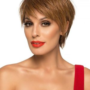 Destiny   Layered Straight Brunette Blonde Rooted Women's Short Red Wigs - wigglytuff.net