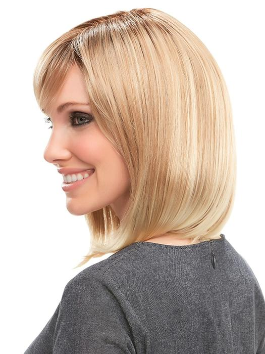 Emilia | Bob Synthetic Brunette Black Red Gray Women's Mid-Length Wigs - wigglytuff.net