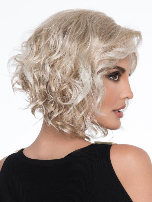 Harper | Bob Synthetic Curly Brunette Rooted Red Gray Women's Wigs - wigglytuff.net