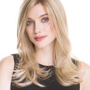 Illusion II | Straight Layered Brunette Rooted Blonde Wavy Women's Monofilament Wigs - wigglytuff.net