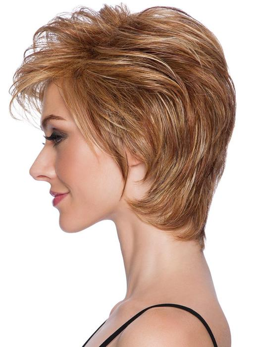 Short Tapered Crop   Layered Brunette Short Synthetic Women's Straight Wigs - wigglytuff.net
