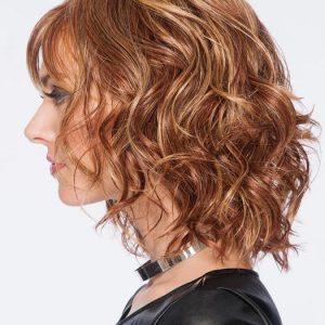Tousled Bob   Layered Brunette Short Synthetic Wavy Red Bob Women's Wigs - wigglytuff.net