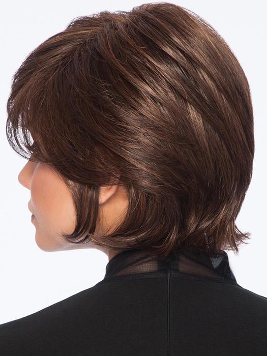 Vintage Volume | Layered Brunette Short Synthetic Women's Straight Wigs - wigglytuff.net