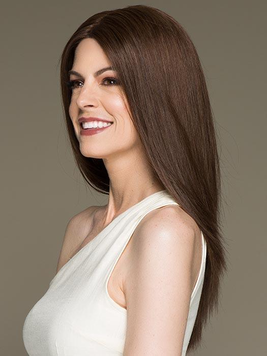 Xenita | Layered Brunette Rooted Blonde Wavy Monofilament Lace Front Wigs - wigglytuff.net