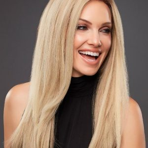 Blake Petite | Straight Long Brunette Human Hair Monofilament Red Lace Front Wigs - wigglytuff.net