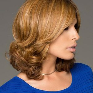 Danielle | Straight Red Lace Front Monofilament Brunette Human Hair Mid-Length Rooted Wigs - wigglytuff.net