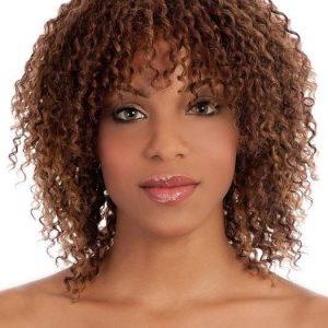 Jozefina | Curly Synthetic Mid-Length Black Blonde Wigs - wigglytuff.net