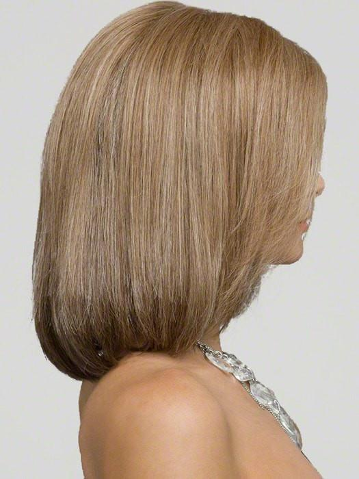 Lynsey | Straight Red Lace Front Monofilament Brunette Human Hair Mid-Length Rooted Wigs - wigglytuff.net