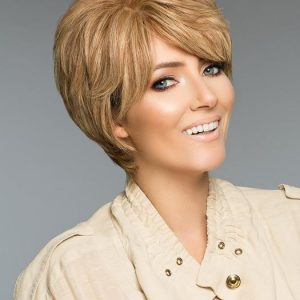 Petite Lori H-Mono | Curly Red Monofilament Blonde Women's Human Hair Short Brunette Wigs - wigglytuff.net