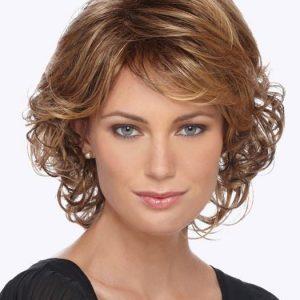 Colleen | Mid-Length Gray Red Women's Blonde Wigs - wigglytuff.net