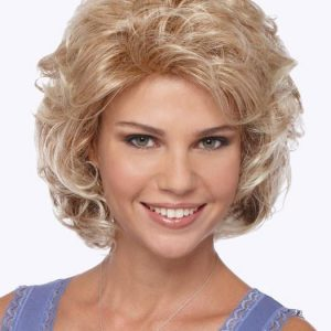 Compliment   Mid-Length Gray Red Women's Blonde Wigs - wigglytuff.net